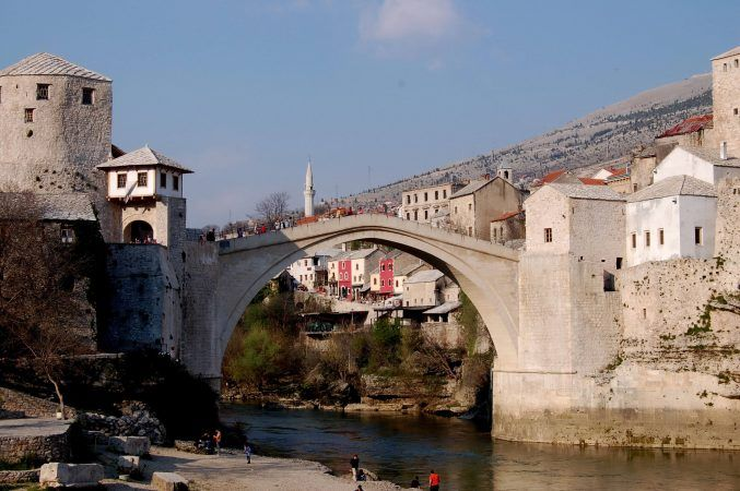 Mostar Bridge a bit closer up