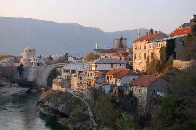 The rooftops of Mostar