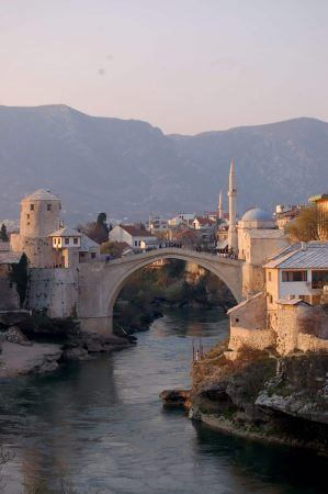 Mostar Bridge and Mosque