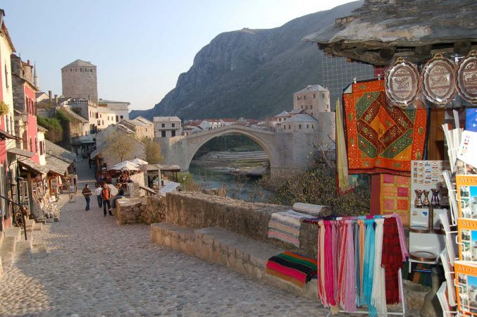 Some shopping by Mostar Bridge