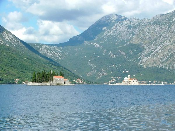 The two islands of the Bay of Kotor