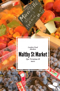 Food markets are booming in London. Here are a few you might not have heard of that are near London Bridge - where the locals go! #londonfoodmarkets #londonfood #maltbystreetmarket #spaterminus