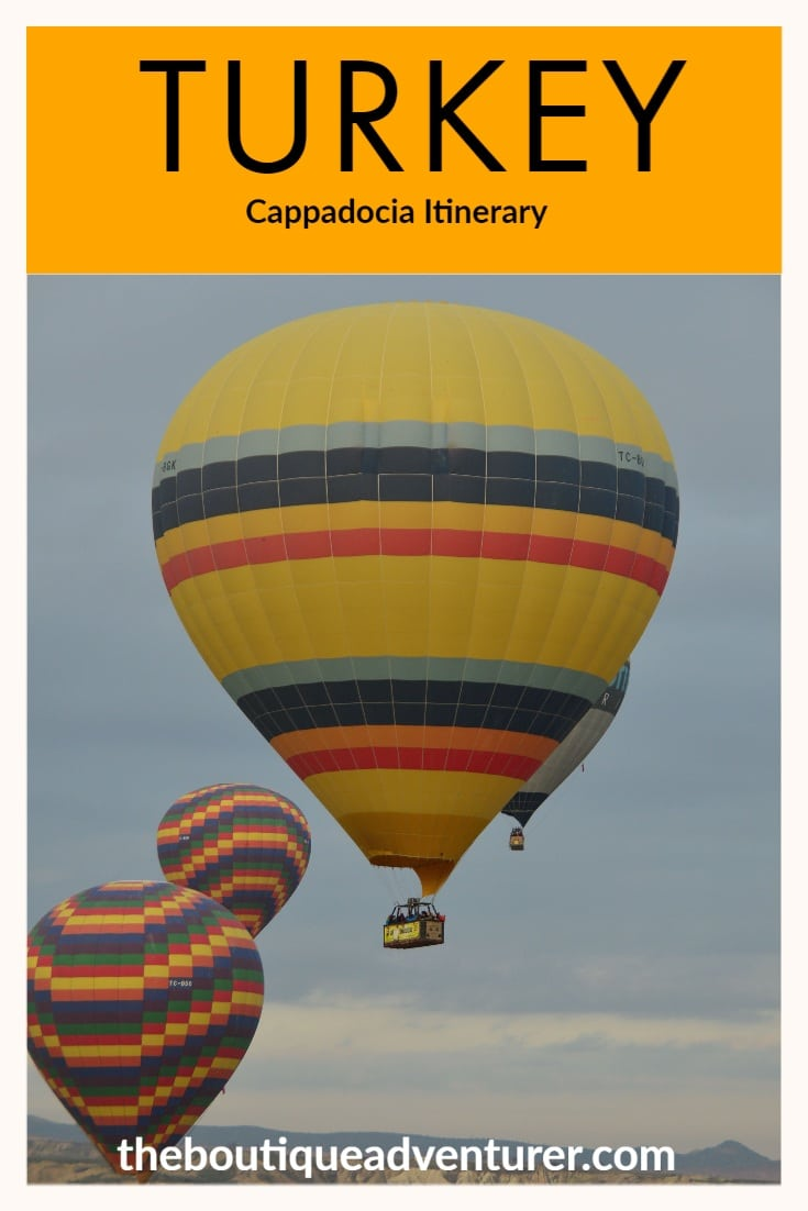 Heading to Turkey? Don't miss my 3 Day Cappadocia Itinerary with what to do, boutique hotels to stay in and top tips on Hot Air Ballooning! #turkey #cappadocia