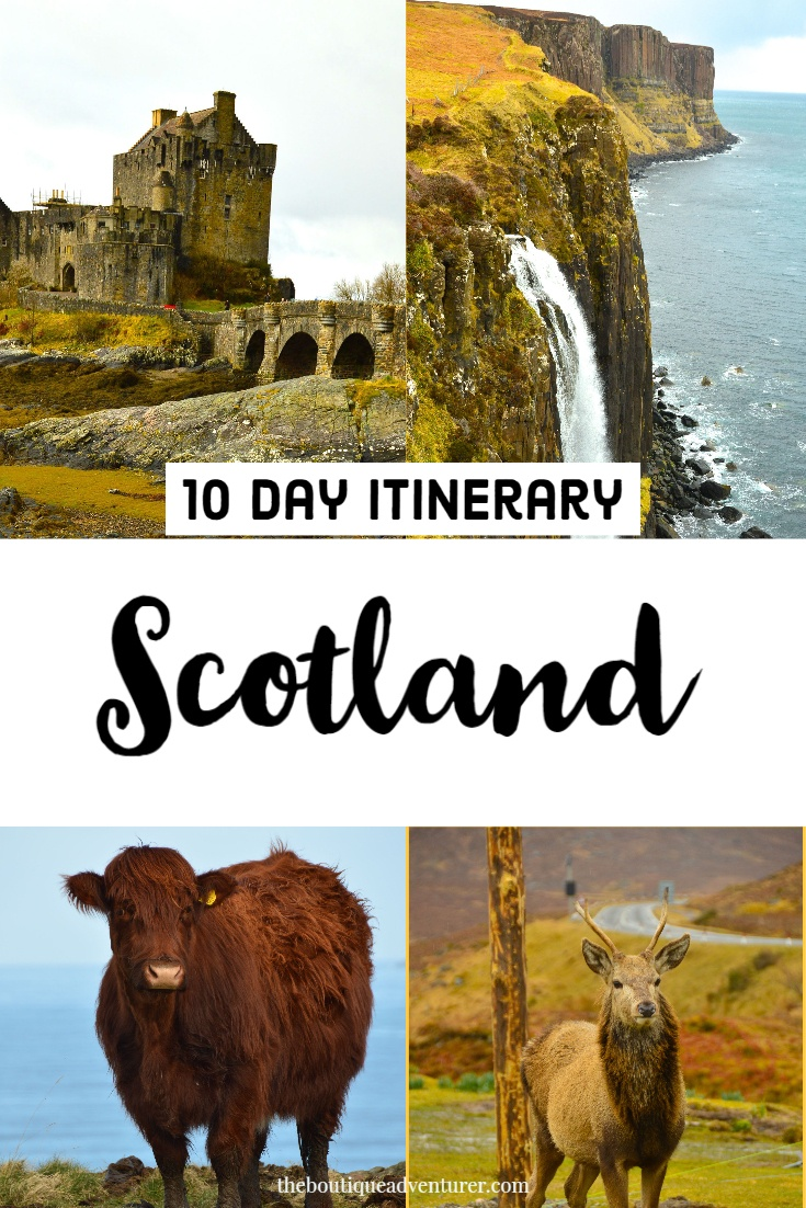 Planning a trip to the Scottish Highlands? My Scotland Itinerary 10 days will show you where to go, what to do, where to eat and boutique hotels for sleeping! #scotland #scottishhighlands