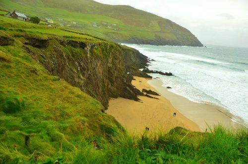 cliff and beach on dingle peninsula ireland