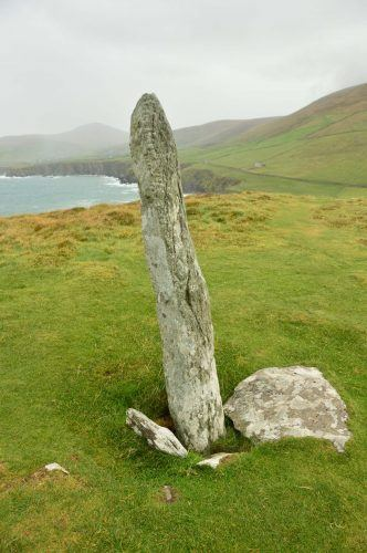 statue at top of Dunmore Heads Dingle Peninsula Ireland