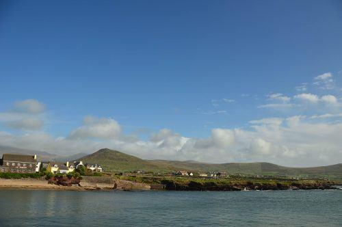 view of town of smerwick dingle peninsula ireland