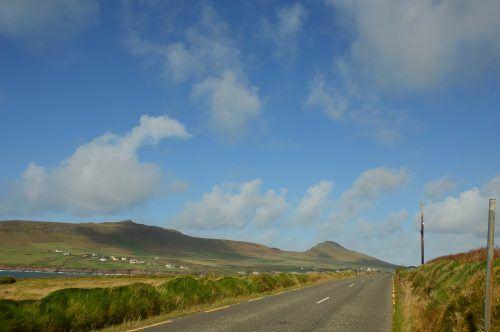 empty road and big blue sky dingle peninsula ireland