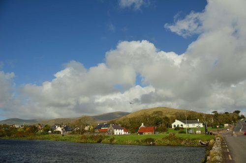 small irish town with big blue sky dingle peninsula ireland