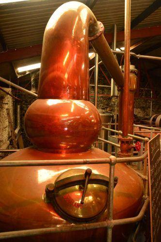 copper machinery inside dingle distillery ireland