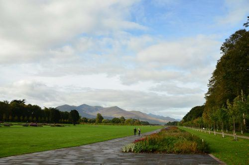 gardens and big sky at killarney house ireland