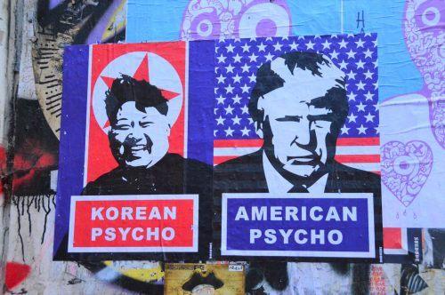 street art north korea donald trump east london