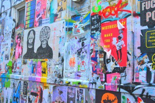 colourful street art east london