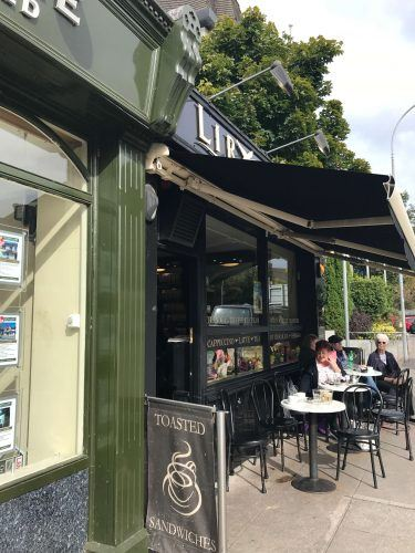 exterior of Lir coffee with outside tables killarney ireland