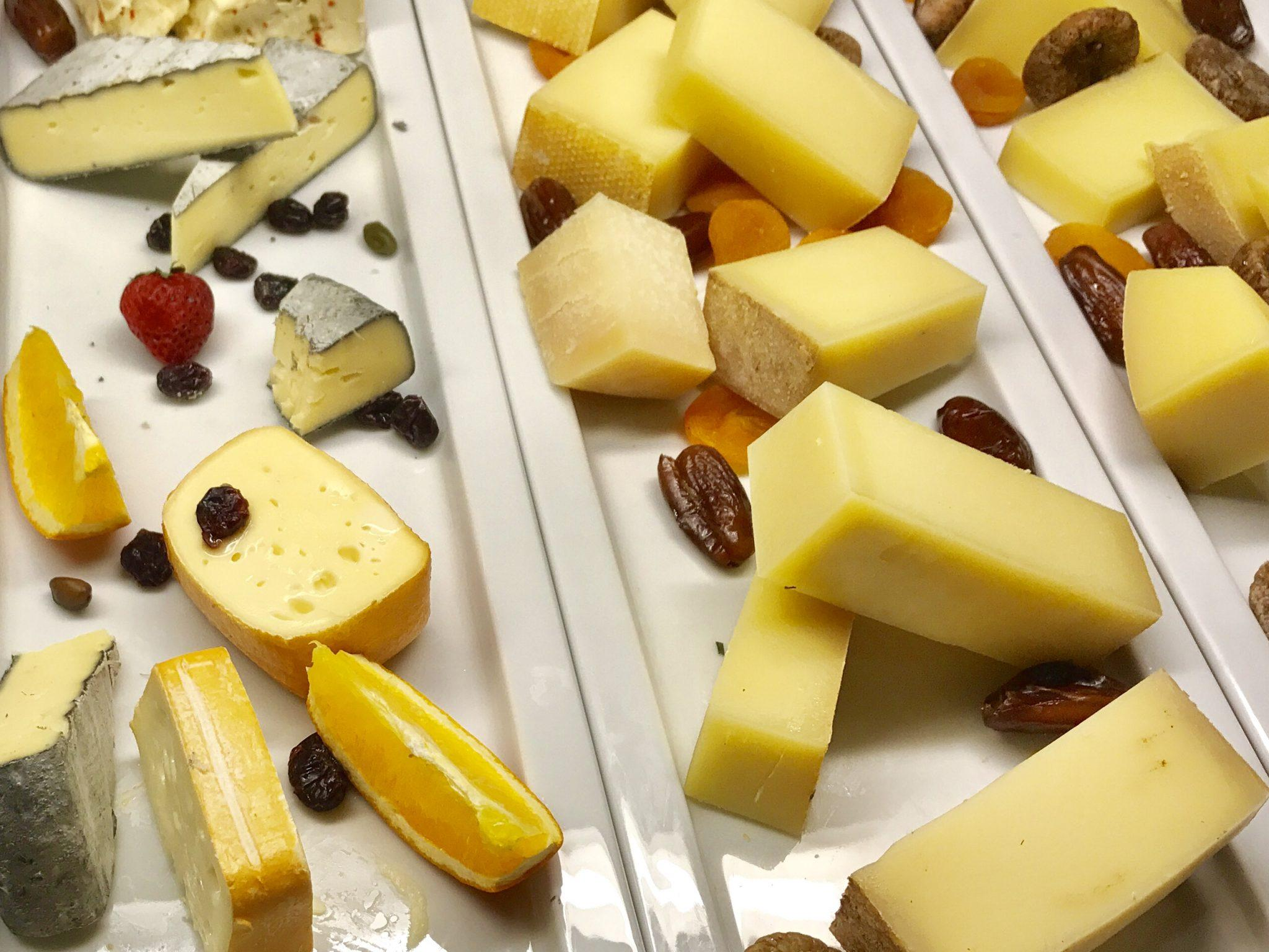 assorted cheeses on a buffet at Arosa Kitzbühel