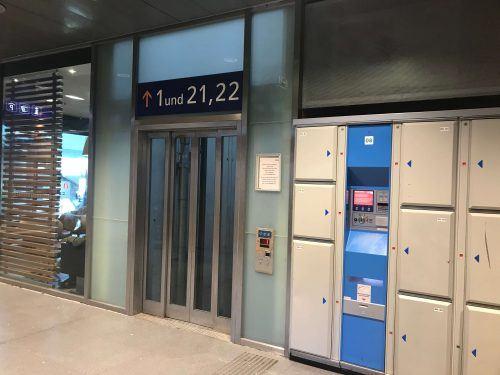 storage lockers at innsbruck railway station