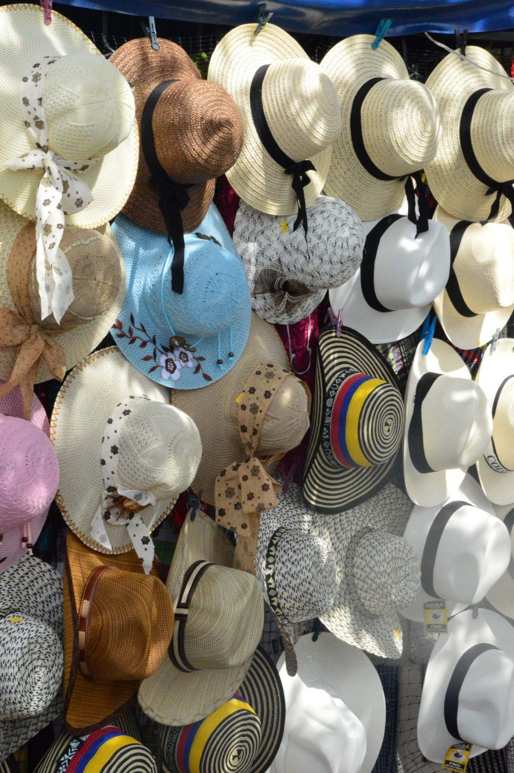 rack of hats for sale
