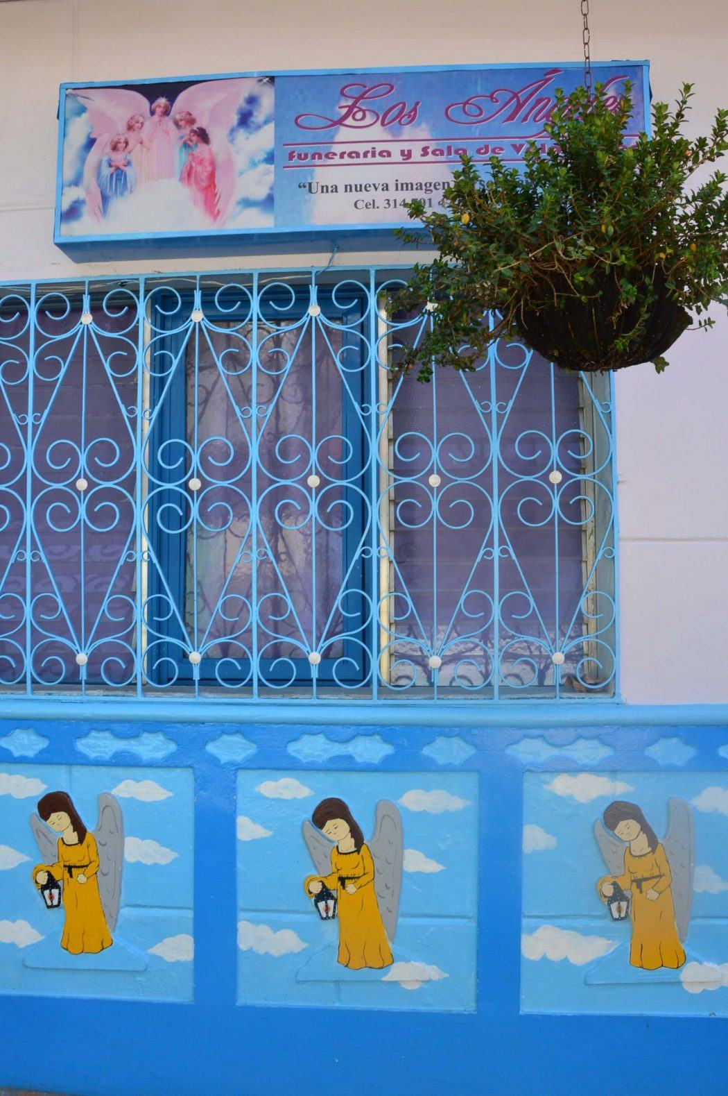 House in guatape with images of angels