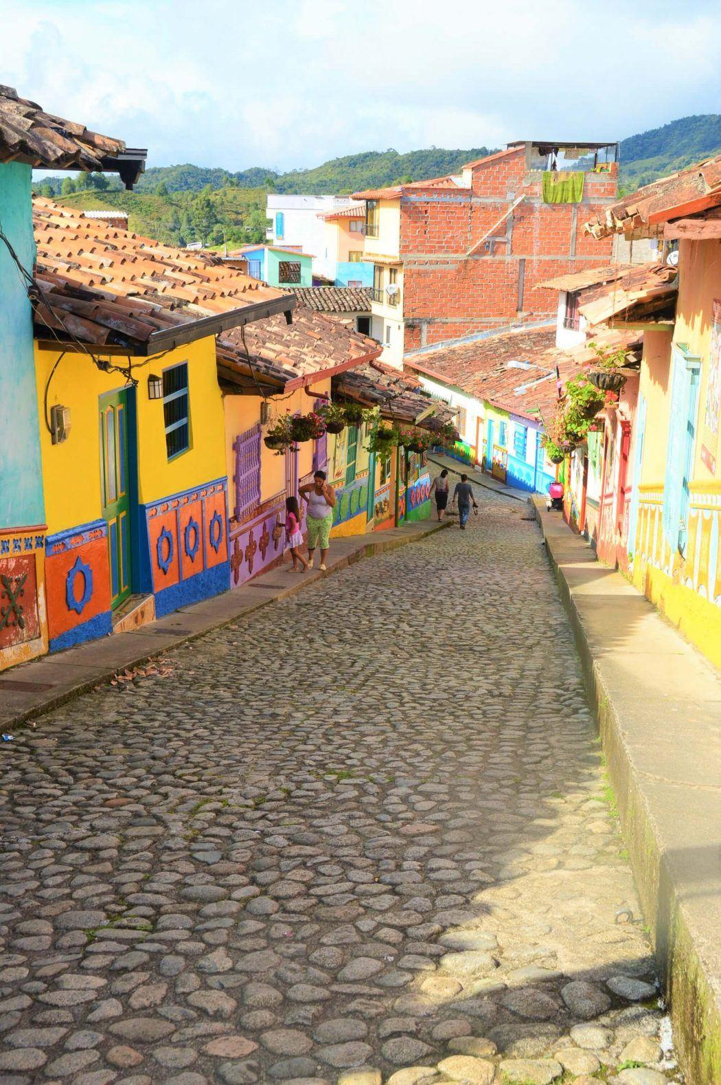 small cobblestone street in gutape