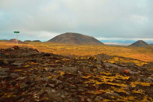 Lava fields that are what is hiked across on the Inside the Volcano tour