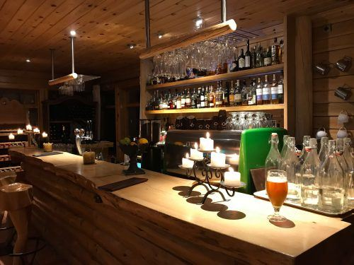bar at hotel ranga iceland in the evening