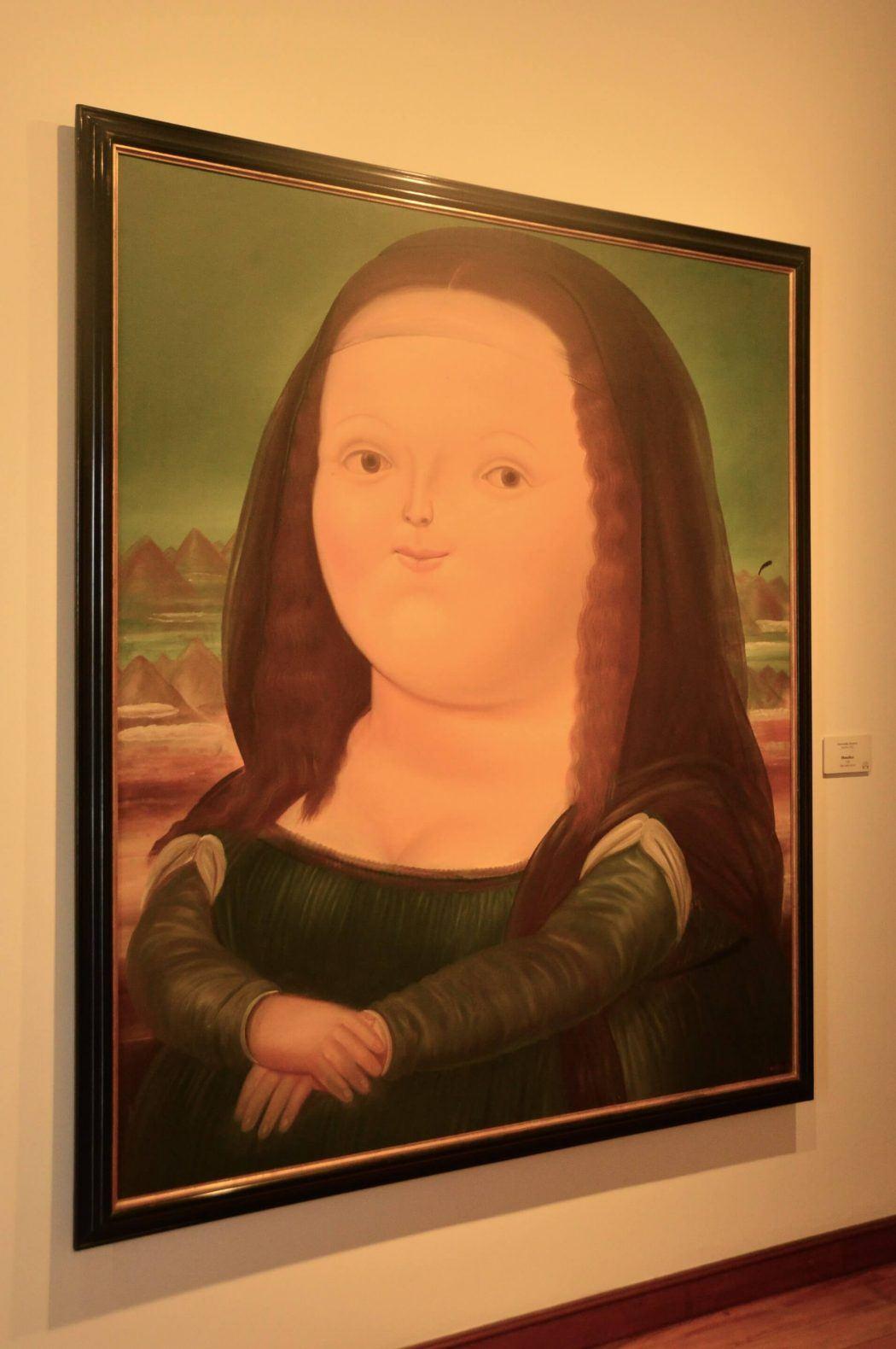 Fernando Botero version of Mona Lisa painting