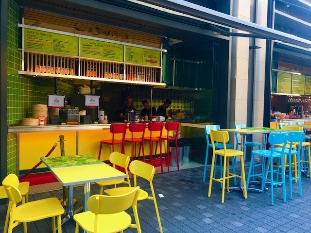 Outdoor eating at barangaroo sydney