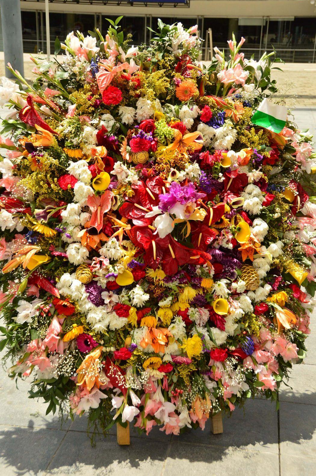 flowers on display plaza mayor