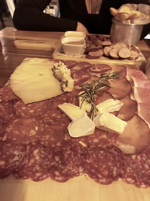 platter of charctuerie meats and cheeses at Bonhomia