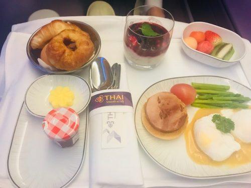 breakfast business class thai airways