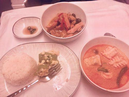 dinner thai airways business class