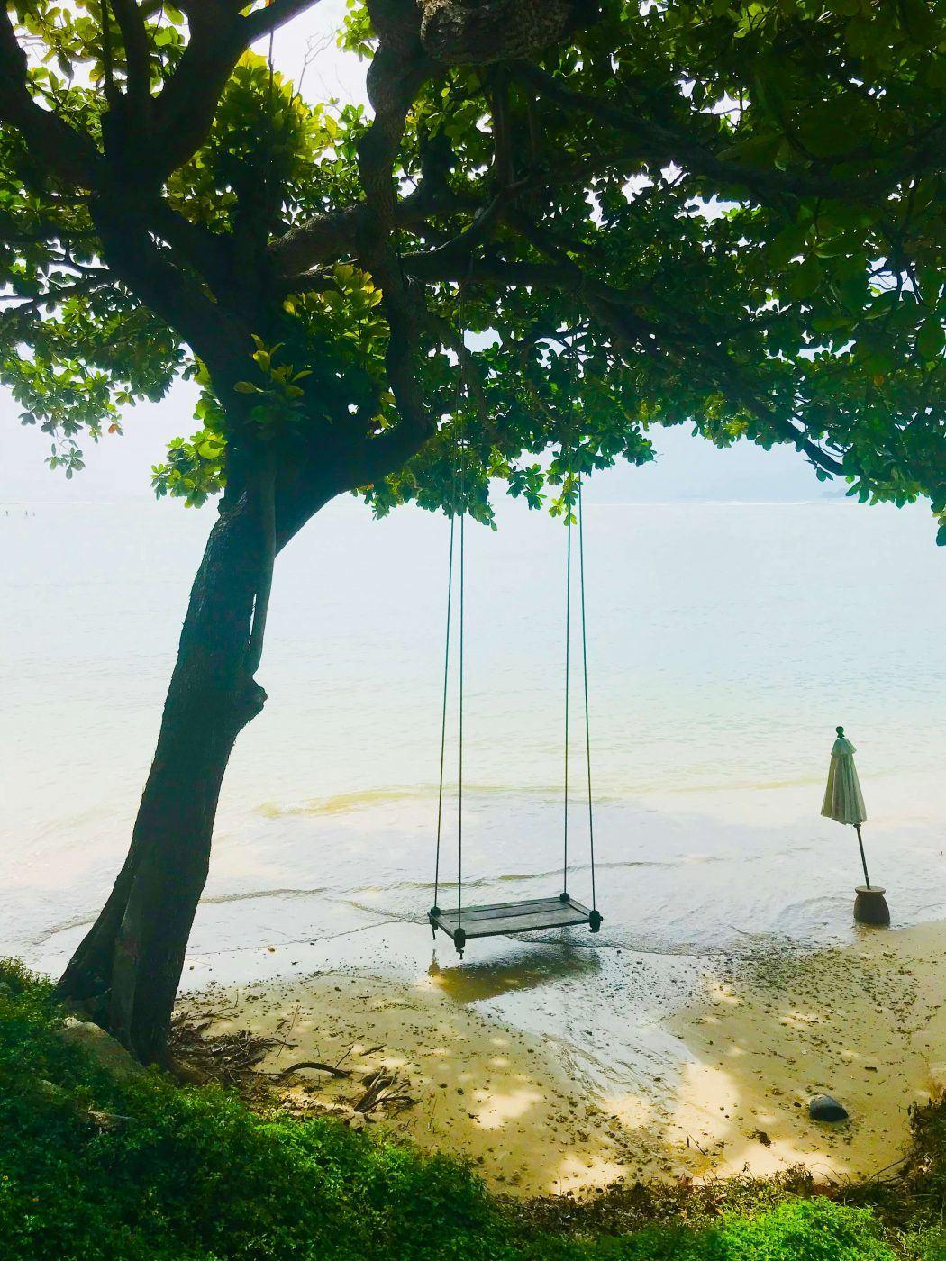 kamalaya beach swing
