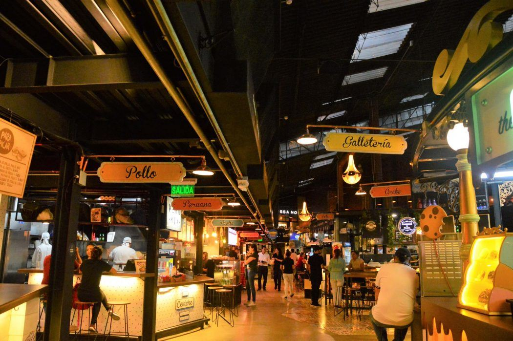 different food stalls in mercado del rio medellin