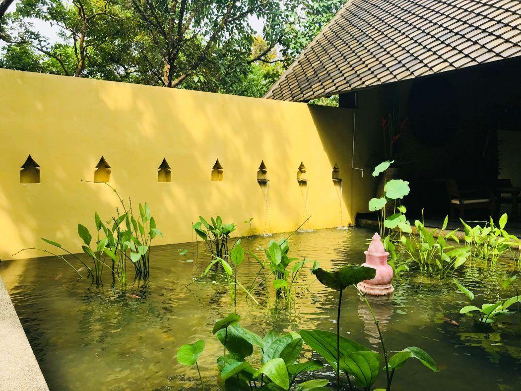 small lake area at kamalaya