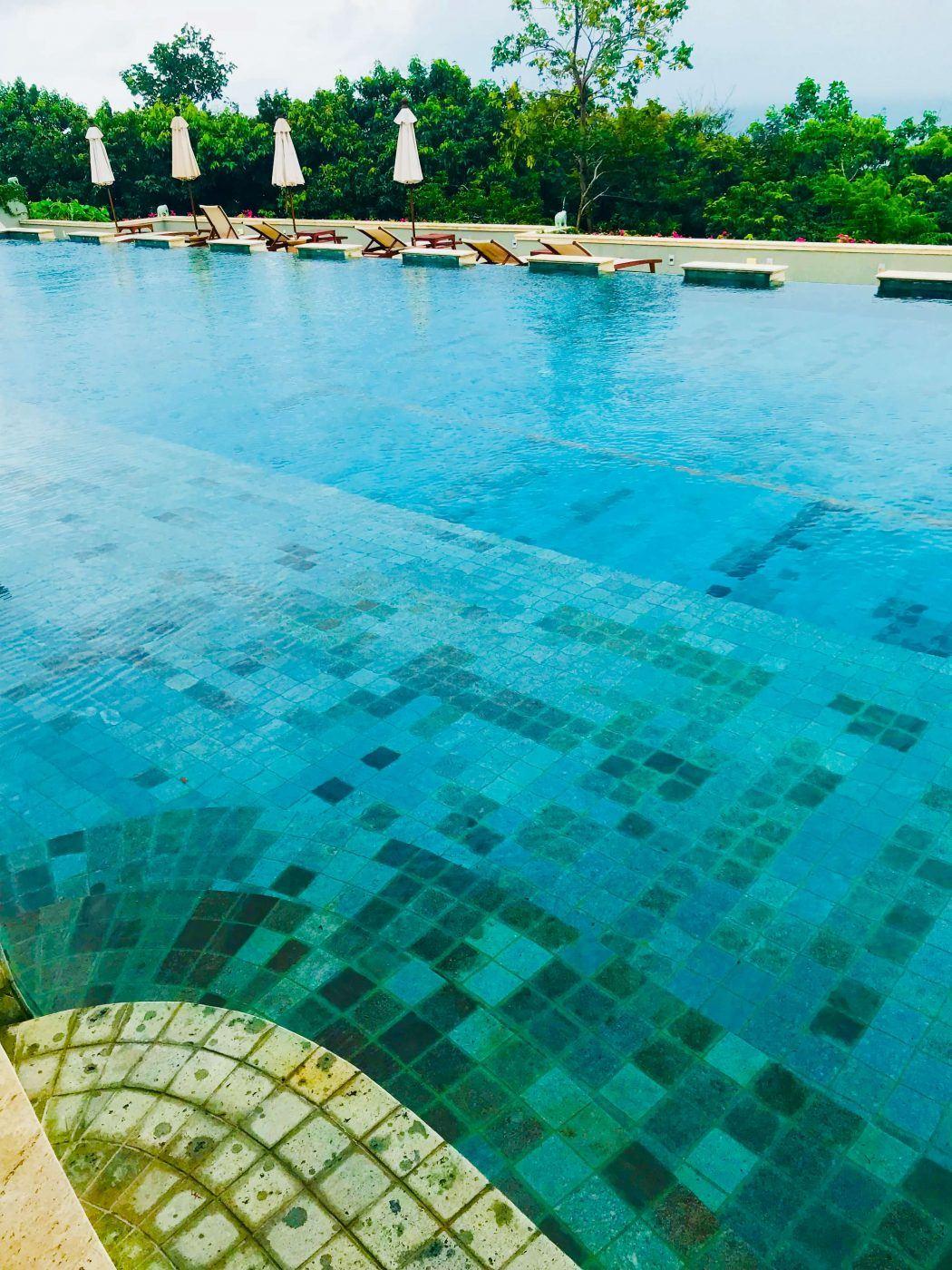 the main lap pool at kamalaya