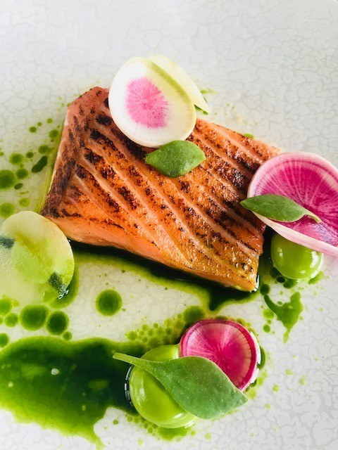 salmon at ten minutes by tractor winery