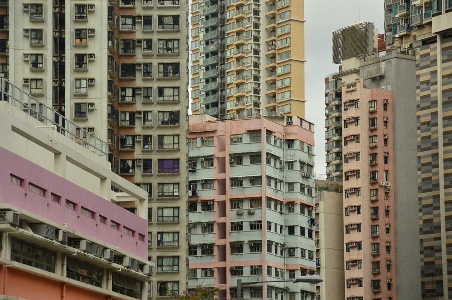 hong kong mongkok high rise buildings