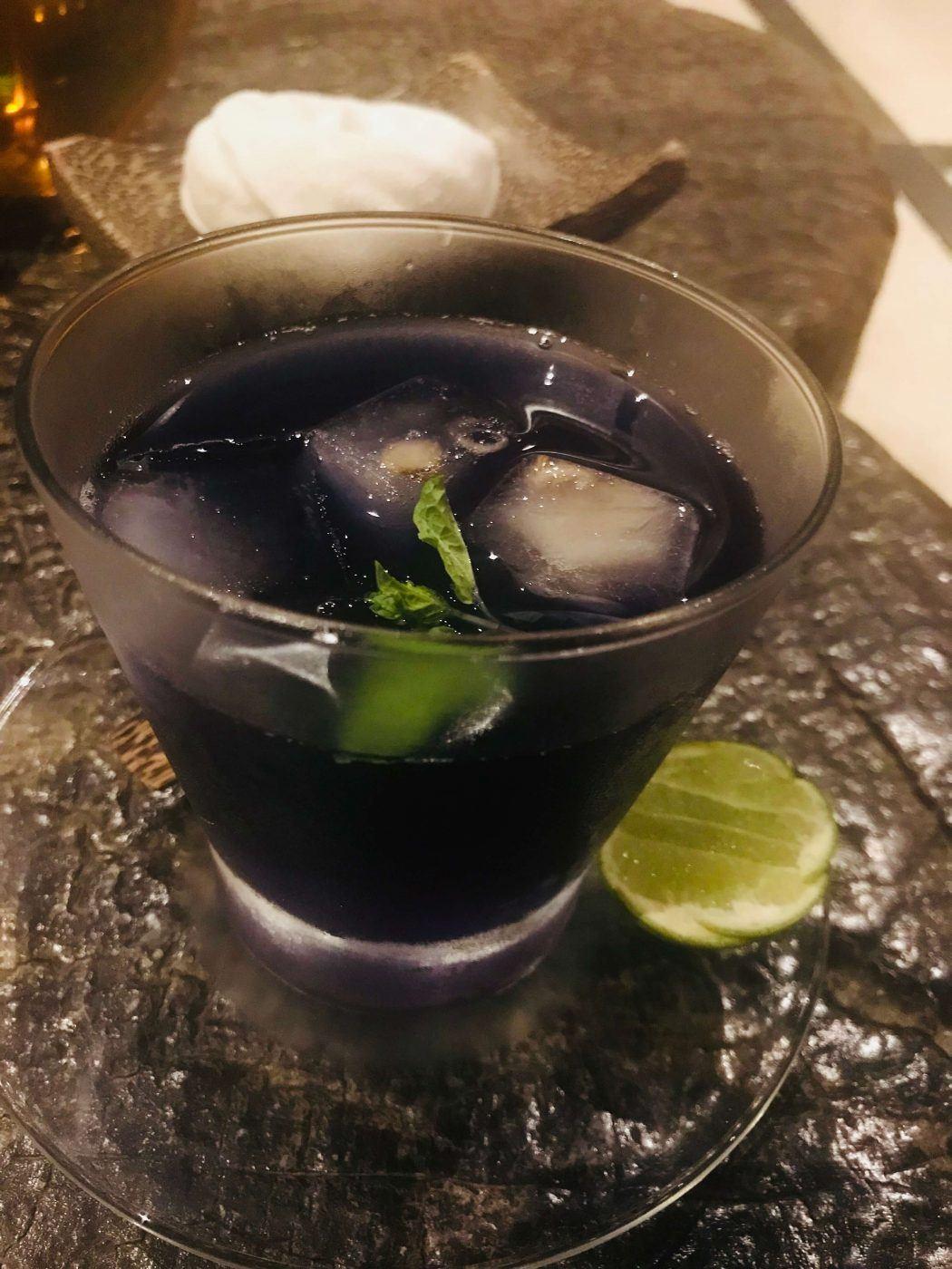 blue welcome drink at kamalaya koh samui