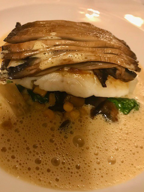 cod dinner at ockenden manor spa