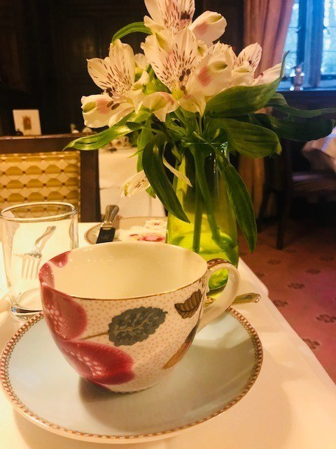 afternoon tea cup and saucer at ockenden manor