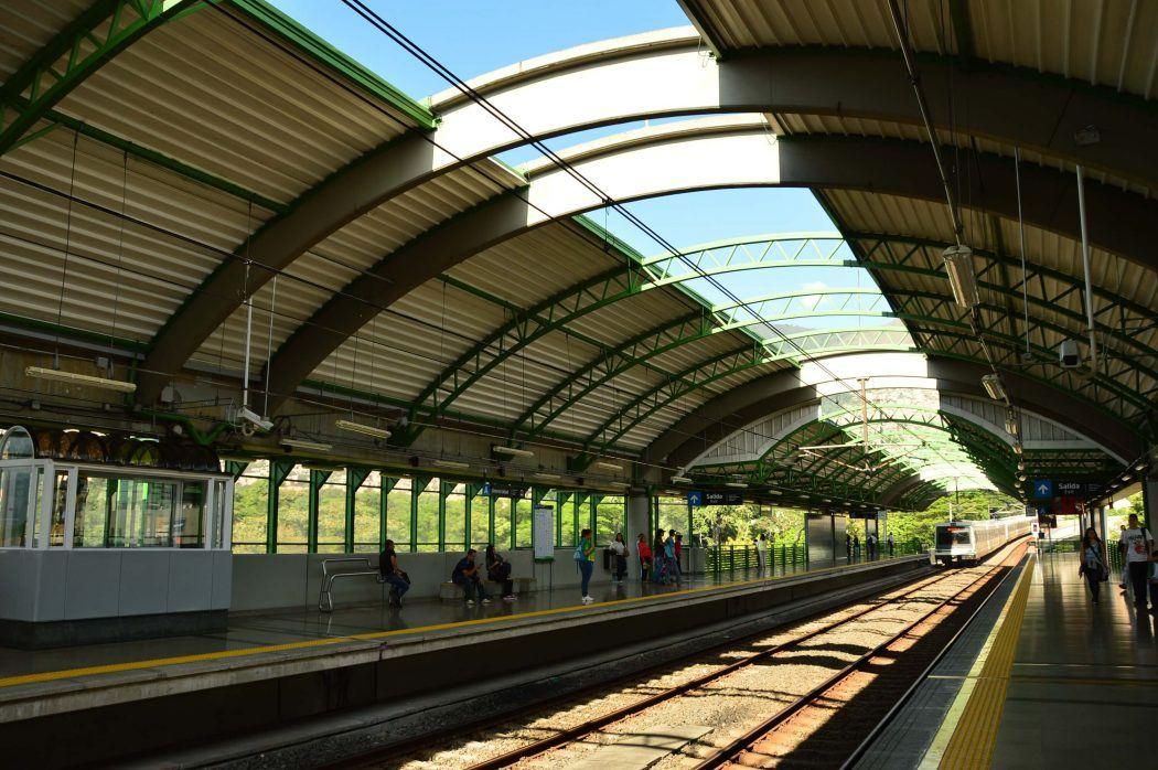 station in the medellin metro