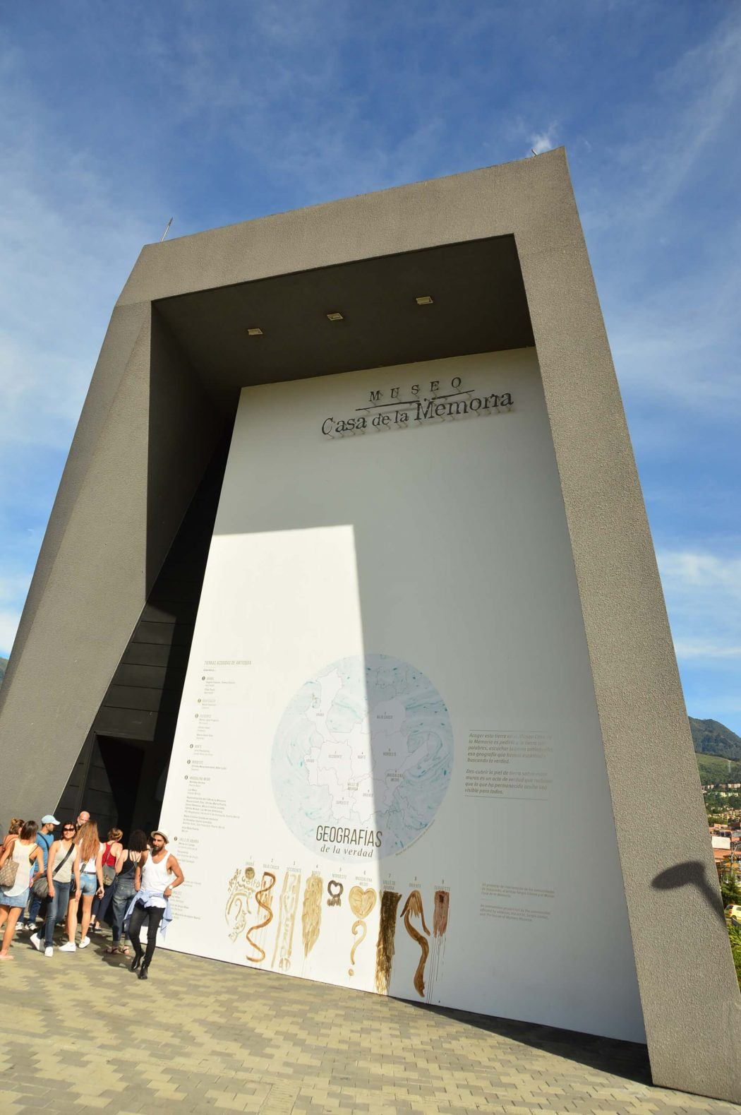 entrance to the museum of memories medellin