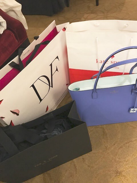 shopping bags from north outlet discount mall