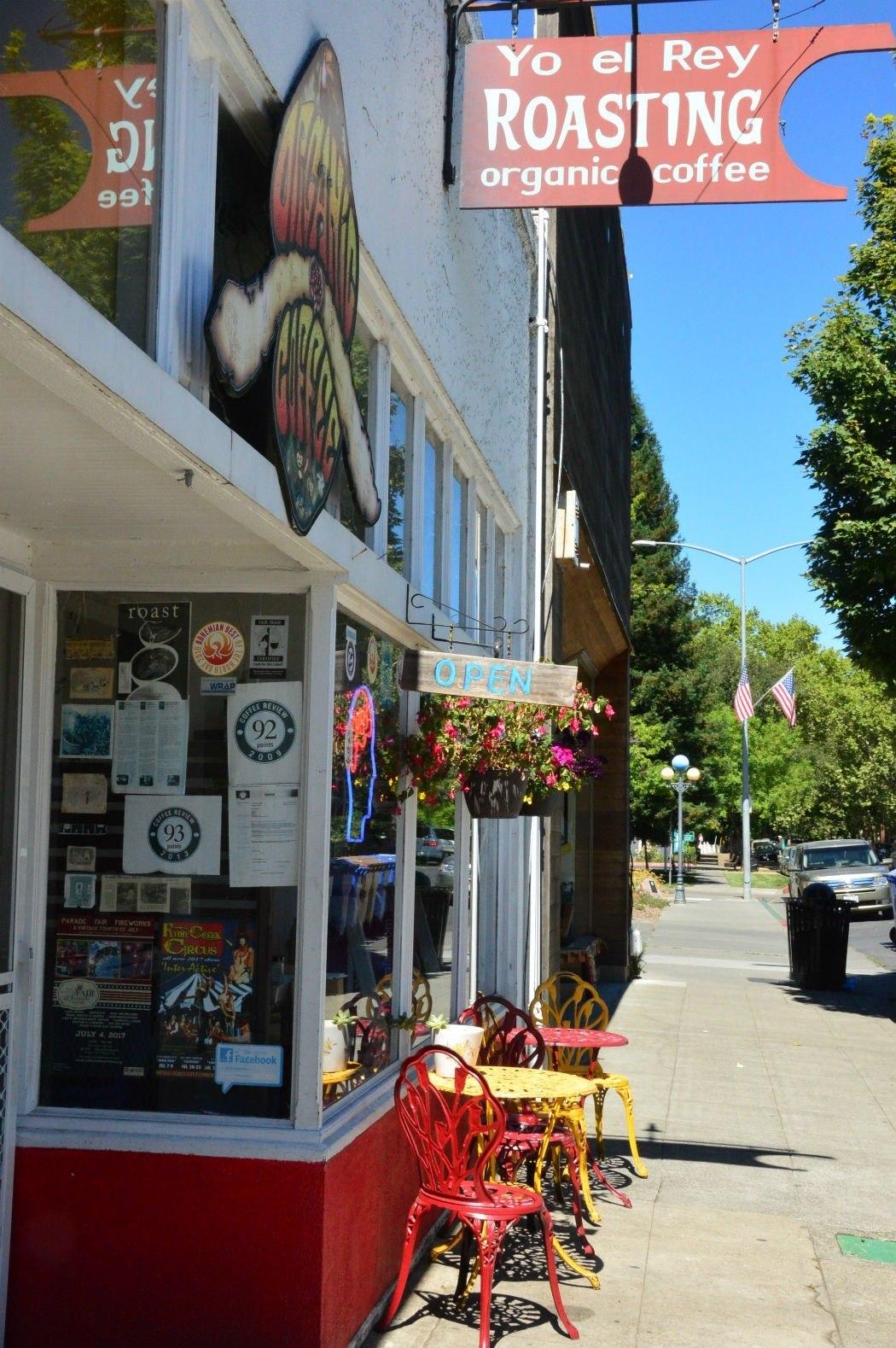 Yo El Rey coffee shop in Calistoga