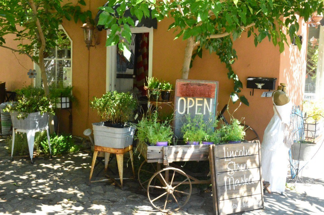 Cute shop on main street downtown Calistoga