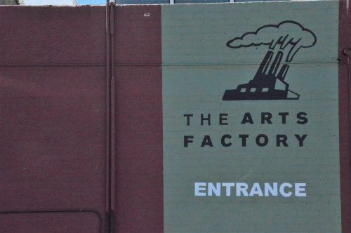 sign for the arts factory