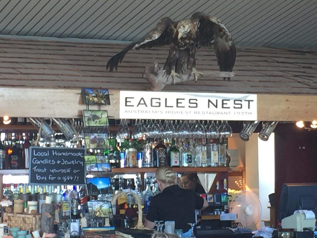 The bar at Eagles Nest restaurant in australia