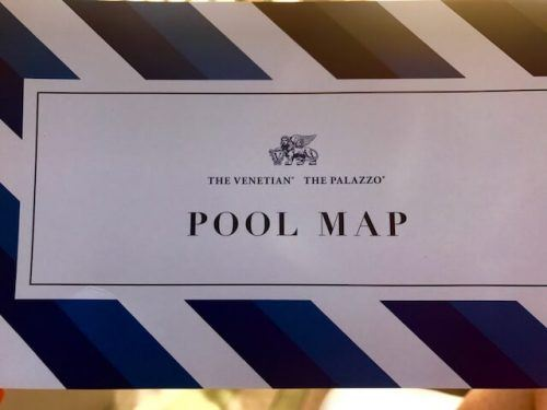 map of pools for the palazzo