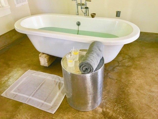 Bath in spa at Solage Calistoga