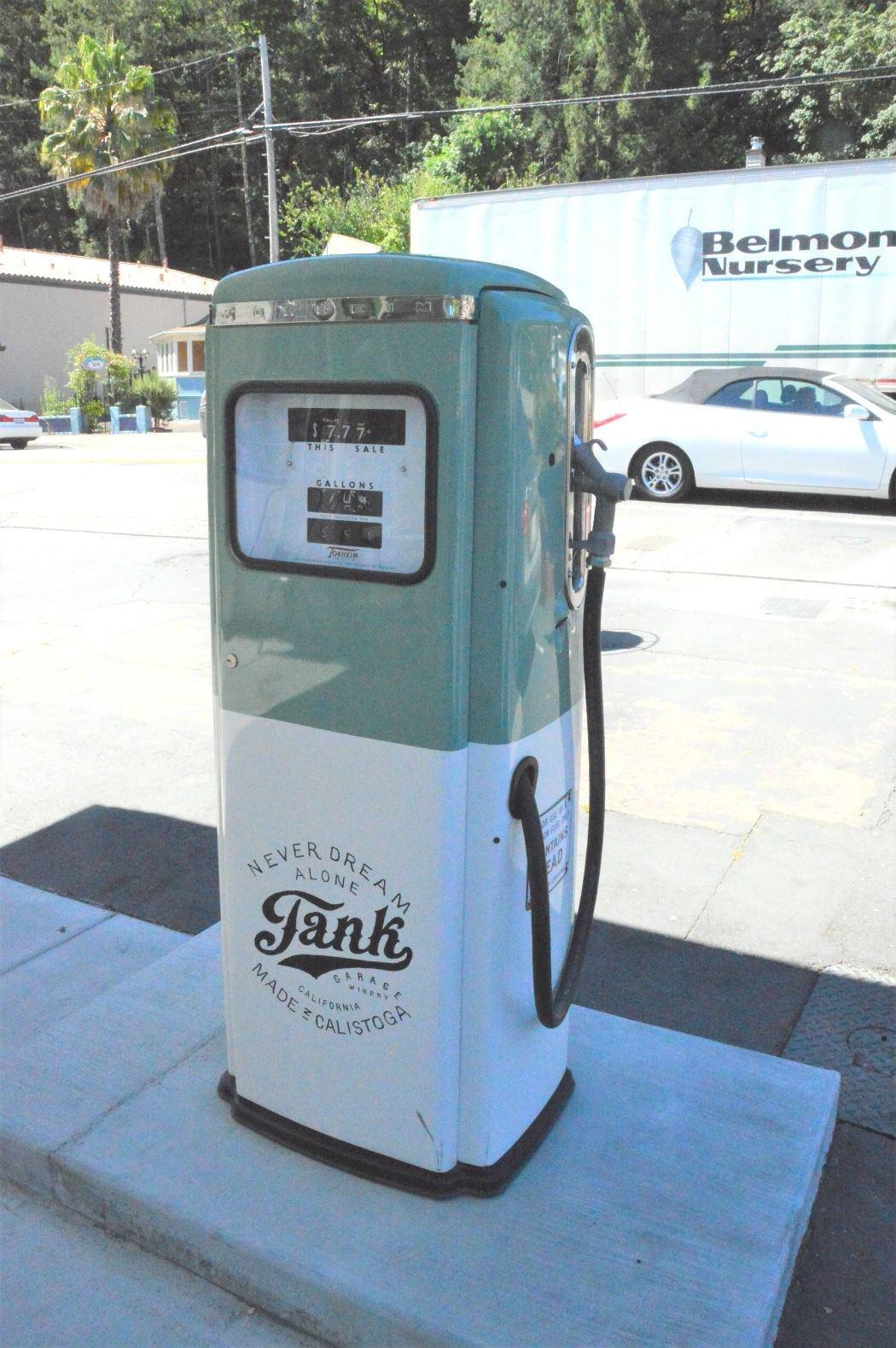 Gas dispenser at Tank Winery Calistoga